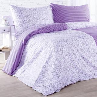 Bawełniana pościel ŻANETA fioletowa