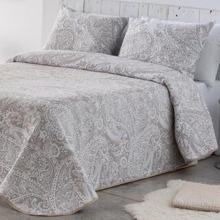 Narzuta na łóżko CASIA beżowa, łóżko podwójne