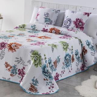 Narzuta na łóżko CRYSTAL niebieska