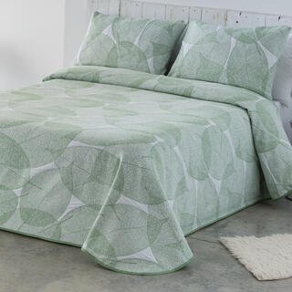 Narzuta na łóżko AIDA zielonkawa