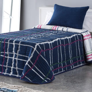 Narzuta na łóżko MARA niebieska