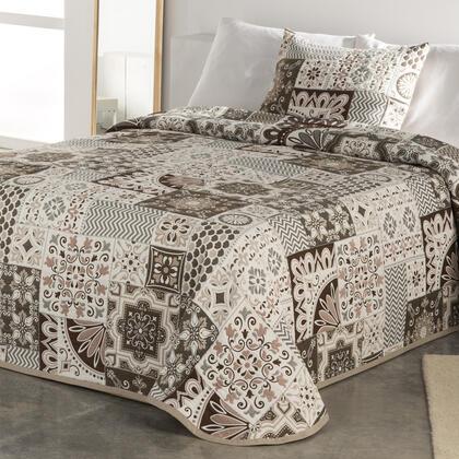 Narzuta na łóżko MIA beżowa, łóżko podwójne