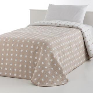 Narzuta na łóżko THALIA beżowa, łóżko podwójne