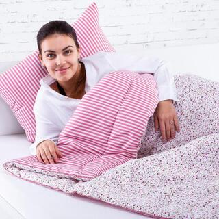 Zestaw letniej kołdry 140 x 200 cm i poduszki 40 x 60 cm ŻANETA czerwony