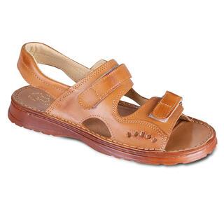 Męskie skórzane sandały zapinane na rzepy
