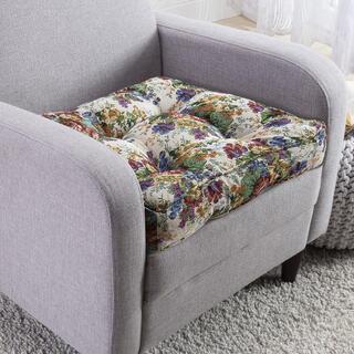 Podwyższona poduszka siedzisko pikowana FLOWERS