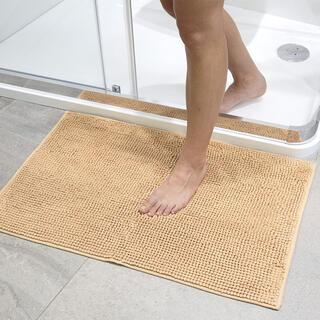 Dywanik łazienkowy supełki jasnobrązowy