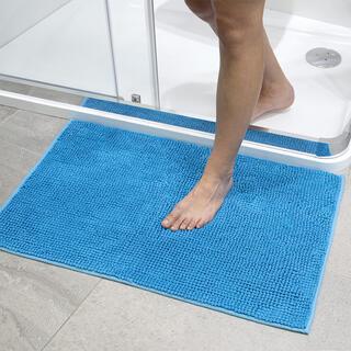 Dywanik łazienkowy supełki niebieski
