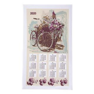 Świąteczny kaledndarz - ścierka ROWER 42 x 70 cm