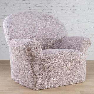 Bi-elastyczne pokrowce BRILLANTE beżowe, fotel (sz. 60 - 110 cm)