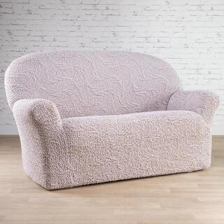 Bi-elastyczne pokrowce BRILLANTE beżowe, kanapa trzyosobowa (sz. 170 - 220 cm)