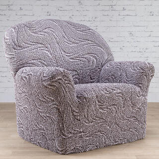 Bi-elastyczne pokrowce BRILLANTE brązowe, fotel (sz. 60 - 110 cm)