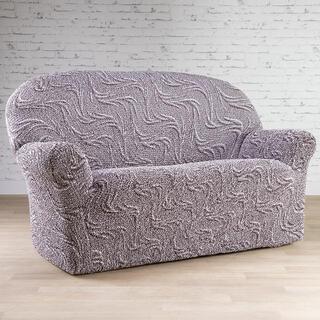 Bi-elastyczne pokrowce BRILLANTE brązowe, kanapa trzyosobowa (sz. 170 - 220 cm)