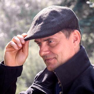 Męska czapka golfowa brązowa