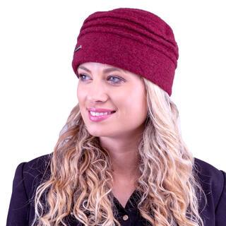 Damska czapka bordowa