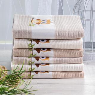 Waflowe ścierki bawełniane SOWA 6 szt. 50 x 70 cm