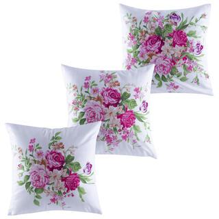 Zestaw poduszek na jaśki RÓŻE 3 szt. 40 x 40 cm