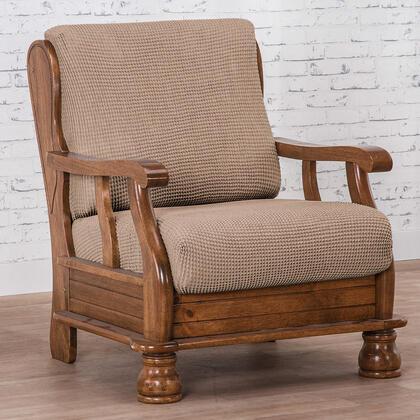 Super streczowe pokrowce NIAGARA orzeszkowe fotel z drewnianymi bokami (sz. 50 - 80 cm)