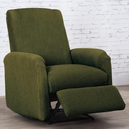 Super streczowe pokrowce NIAGARA zielone, fotel relaks (sz. 70 - 90 cm)