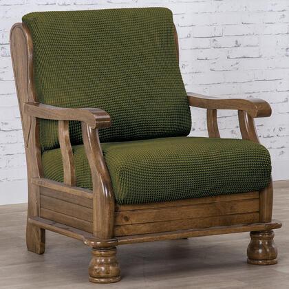 Super streczowe pokrowce NIAGARA zielone fotel z drewnianymi bokami (sz. 50 - 80 cm)