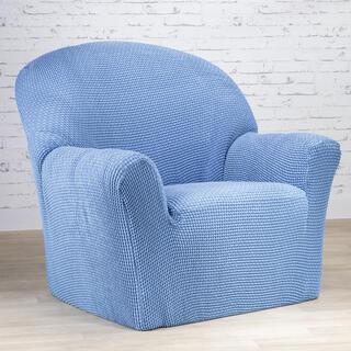 Super streczowe pokrowce NIAGARA niebieskie, fotel (sz. 70 - 110 cm)