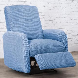 Super streczowe pokrowce NIAGARA niebieskie, fotel relaks (sz. 70 - 90 cm)
