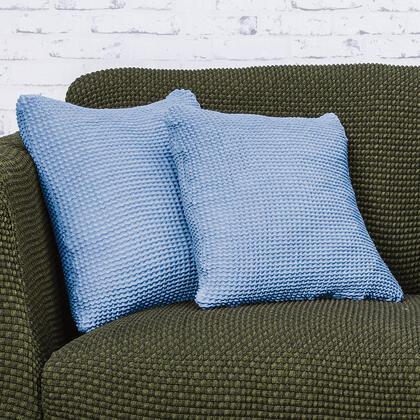 Super streczowe pokrowce NIAGARA niebieskie, poszewki na poduszkę 2 szt. (40 x 40 cm)