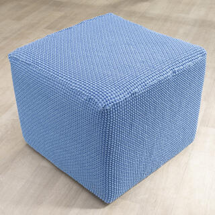 Super streczowe pokrowce NIAGARA niebieskie, pufa (40 - 60 cm)