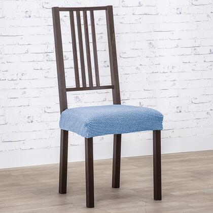 Super streczowe pokrowce NIAGARA niebieskie, krzesła - siedzisko 2 szt. 40 x 40 cm