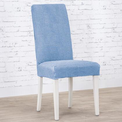 Super streczowe pokrowce NIAGARA niebieskie krzesła z oparciem 2 szt. 40 x 40 x 55 cm