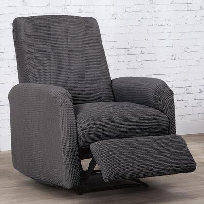 Super streczowe pokrowce NIAGARA antracyt fotel relaks (sz. 70 - 90 cm)