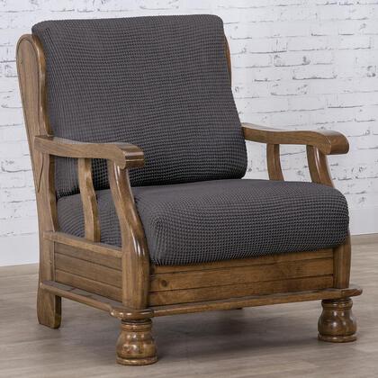 Super streczowe pokrowce NIAGARA antracyt, fotel z drewnianymi bokami (sz. 50 - 80 cm)