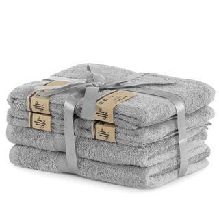 Zestaw ręczników bambusowych BAMBY jasnoszare 6 szt.