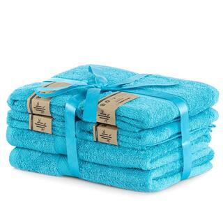 Zestaw ręczników bambusowych BAMBY niebieskie 6 szt.