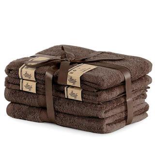 Zestaw ręczników bambusowych BAMBY brązowe 6 szt.