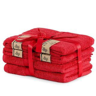 Zestaw ręczników bambusowych BAMBY czerwone 6 szt.