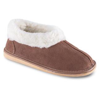 Damskie obuwie domowe z barankiem brązowe