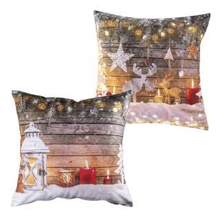 Zestaw 2 szt. świątecznych poszewek na poduszkę