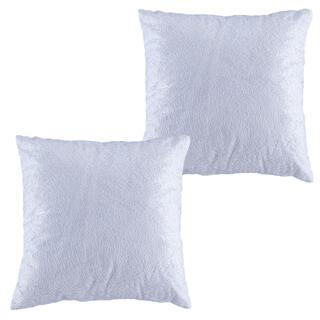 Zestaw 2 szt. poszewek na poduszki z białą nitką 40 x 40 cm