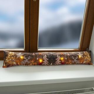 Wałek przeciw przeciągom na okno z LED