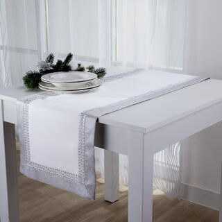 Świateczny bieżnik na stół z kamykami 40 x 160 cm