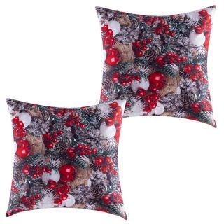 Zestaw 2 szt. poszewek na poduszki Czerwone jabłuszka 40 x 40 cm