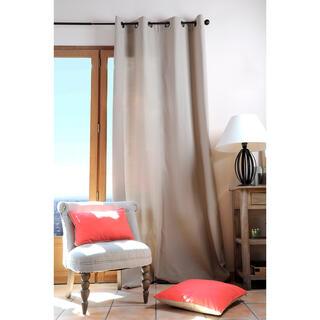 Zasłona dekoracyjna bawełniana DUO UNI beżowa 135 x 240 cm