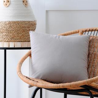 Poduszka dekoracyjna DUO UNI szara 40 x 40 cm