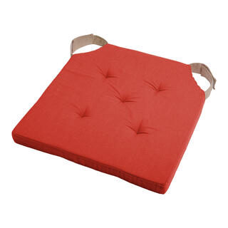 Poduszka na siedzisko DUO UNI na rzep ceglasta