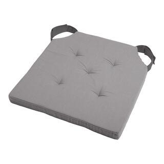 Poduszka na siedzisko DUO UNI na rzep szara