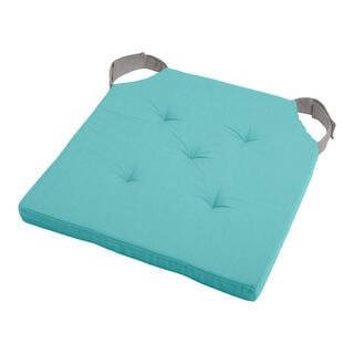 Poduszka na siedzisko DUO UNI na rzep jasnoniebieska