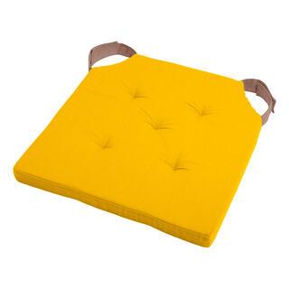 Poduszka na siedzisko DUO UNI na rzep musztardowa
