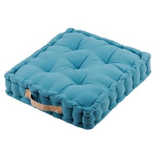 Poduszka do siedzenia na podłodze DUO UNI lazurowy błękit