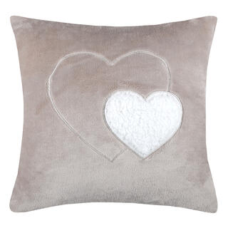Poduszka dekoracyjna COCOON serce beżowa 40 x 40 cm